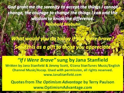 """Stanfield's """"If I Were Brave"""" Today's Optimism Advantage!"""
